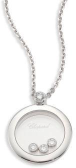 ChopardChopard Happy Diamond & 18K White Gold Round Pendant Necklace