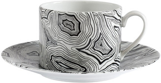 Fornasetti Malachite Tea Cup - Black/White