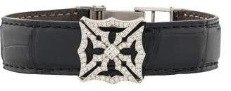 Loree Rodkin 18K Diamond & Alligator Maltese Cross Bracelet