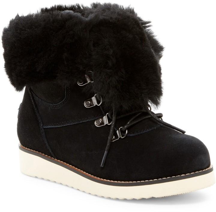 Australia Luxe CollectiveAustralia Luxe Collective Yael Hidden Wedge Foldover Genuine Shearling Boot