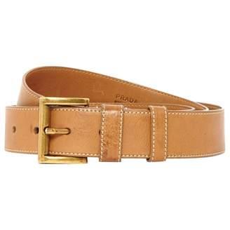 Prada Camel Leather Belts