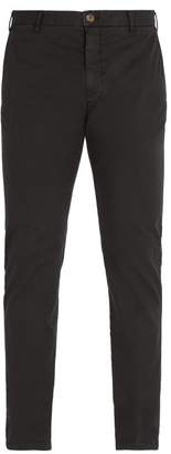 J.w.brine J.W. Brine J.w. Brine - Owen Cotton Blend Chino Trousers - Mens - Black