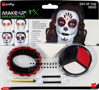Smiffys Day of The Dead Make-Up Kit with Face Paints