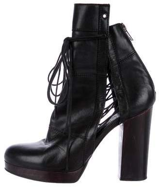 Ld Tuttle Leather Round-Toe Ankle Boots