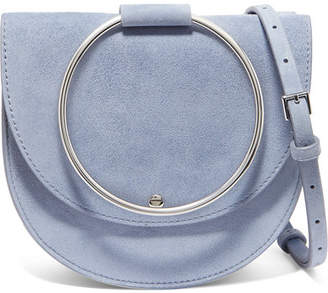 Theory Whitney Suede Shoulder Bag - Blue