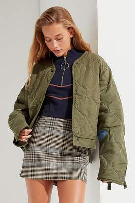 Urban Renewal Vintage Denim Patch Quilted Liner Jacket
