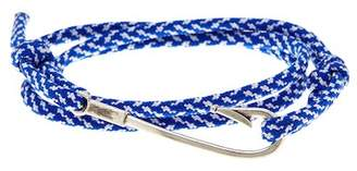 LINK UP Royal Blue Fish Hook Paracord Wrap Bracelet $75 thestylecure.com