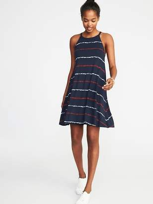 Old Navy Suspended-Neck Striped Swing Dress for Women