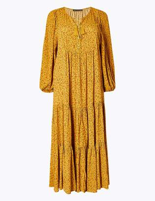 Marks and Spencer Ditsy Floral Print Relaxed Midi Dress