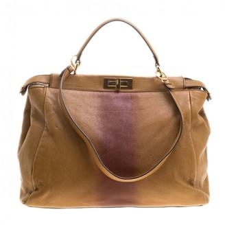 9628a8c4c3 Fendi Peekaboo Brown Bag - ShopStyle