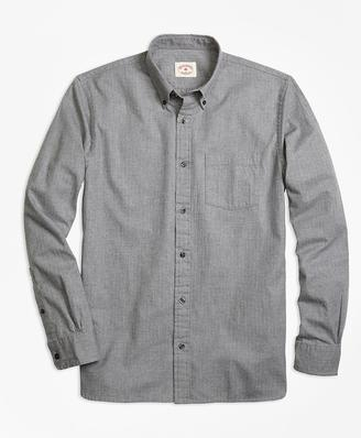Herringbone Brushed-Cotton Flannel Sport Shirt $59.50 thestylecure.com