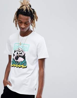 adidas Skateboarding Skateboarding Wading Print T-Shirt In White CF5840
