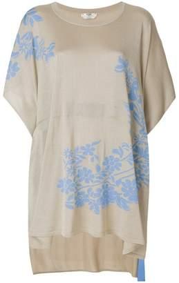 Fendi floral jacquard knit top