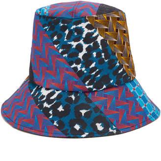 c45dd5774a2 Albertus Swanepoel Sabona Patchwork-Effect Cotton Bucket Hat