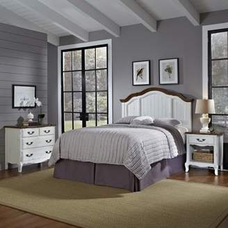 Home Styles The French Countryside Full/Queen Headboard, Nightstand and Chest