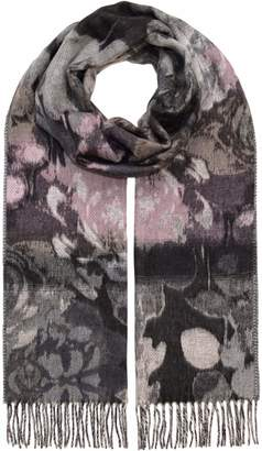 Fraas Autumnal Water Color Floral Oversized Cashmink Womens Woven Scarf