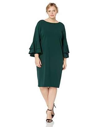 Calvin Klein Women's Plus Size Tiered Bell Sleeve Dress
