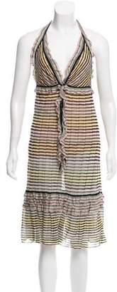 Missoni Ruffle-Accented Knee-Length Dress