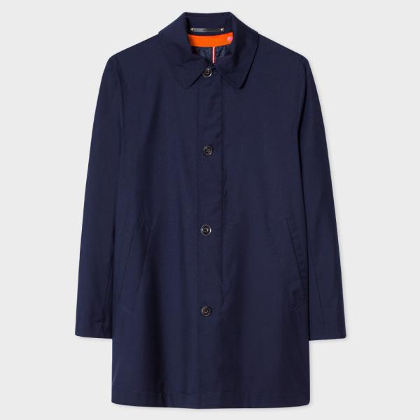 Paul SmithMen's Navy Loro Piana Storm System® Wool Mac With Detachable Liner