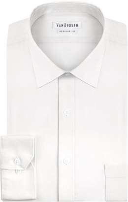 Van Heusen Men's Pincord Regular Fit Solid Spread Collar Dress Shirt