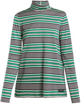 Prada Baiade striped filoscozia top