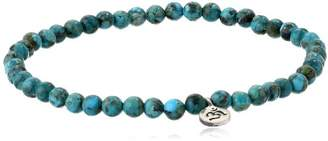 Satya Jewelry Classics Turquoise Om Inner Peace Stretch Bracelet (7-Inch)