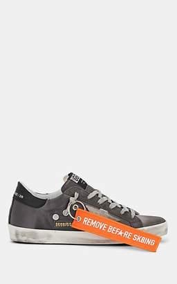 Golden Goose Women's Superstar Leather & Satin Sneakers - Dark Gray