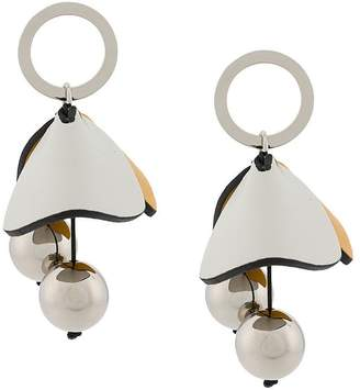 Marni petal orb earrings