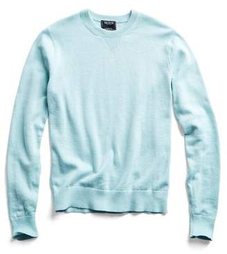 Todd Snyder Cotton Cashmere Sweater in Vintage Aqua
