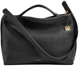 Skagen Mikkeline Leather Satchel - Black $295 thestylecure.com