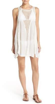 Elan International Crochet Inset Cover-Up Dress
