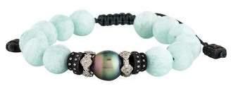 Armenta Amazonite, Pearl & Diamond Bead Bracelet