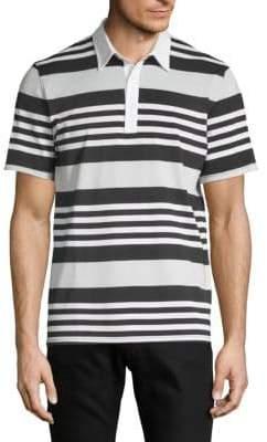AG Jeans Short-Sleeve Striped Polo