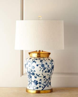 John-Richard Collection Blue Dogwood Table Lamp