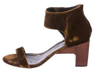 Zero Maria Cornejo Velvet Ankle Strap Sandals
