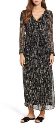 Lucky Brand Polka Dot Maxi Dress