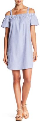 Bobeau Short Sleeve Cold Shoulder Dress $68 thestylecure.com