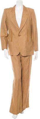 Jean Paul Gaultier Linen Wide Leg Pantsuit $110 thestylecure.com