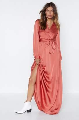 Nasty Gal Satin Lover Maxi Dress