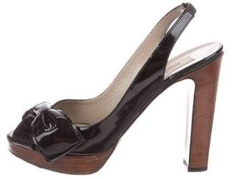 Valentino Patent Leather Platform Sandals