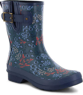 Western Chief Womens Rain Boots Waterproof Flat Heel Buckle Wide Width