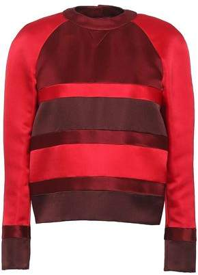 Valentino Color-block Silk-satin Top