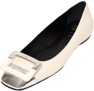 10mm U Cut Two Tone Leather Flats $775 thestylecure.com
