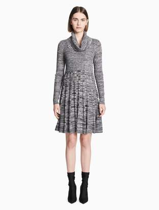 Calvin Klein marled cowl neck a-line sweater dress