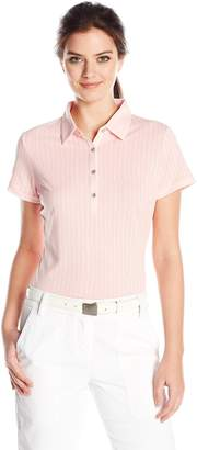 Cutter & Buck Women's Moisture Wicking, Cap-Sleeve Leona Printed Polo Shirt
