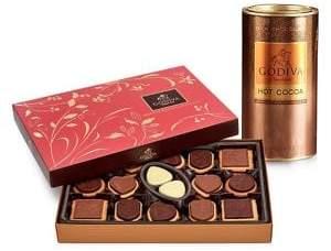 Godiva Chocolatier Milk Chocolate Hot Cocoa and 32-Piece Chocolate Biscuit Gift Set