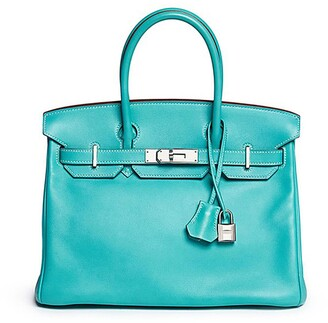 c447d136ee Hermes Vintage Birkin Blue Lagoon 30cm Swift leather bag