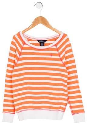 Ralph Lauren Girls' Striped Bateau Neck Sweater
