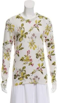 Equipment Cashmere-Blend Floral Print Sweater