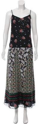 Anna Sui Sleeveless Printed Maxi Dress